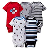 Gerber Unisex Baby Onesies (Pack of 5) (6-9 Months, Sports 2)