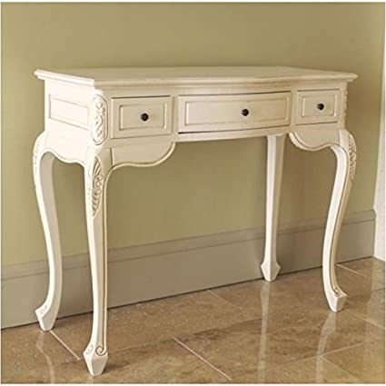 Pemberly Row Antique White Hand Carved Vanity Desk - Amazon.com: Pemberly Row Antique White Hand Carved Vanity Desk