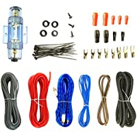 Enrock Audio 8 Gauge Complete Amplifier Wiring Installation Kit - RCA Interconnect - Speaker Wire Fuse Holder
