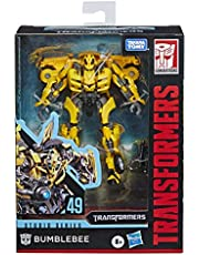 """Transformers E7195AS00 Toys Studio Series 49 Deluxe Class Movie 1 Bumblebee Action Figure - Kids Ages 8 & Up, 4.5"""" Orange"""