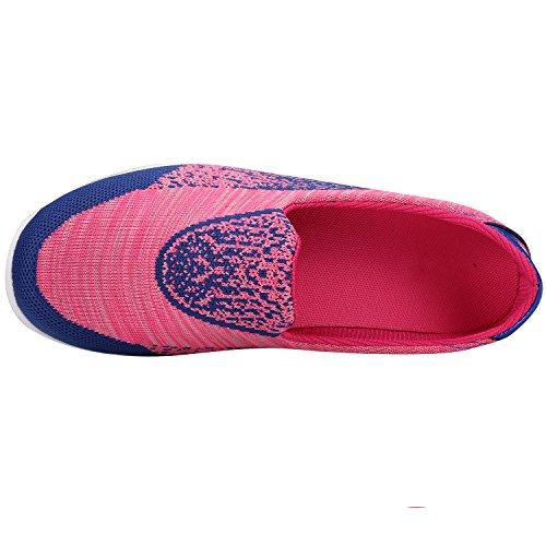 Alexis Leroy Walk Ligero Zapatillas de Deporte Mujer Rosa Roja