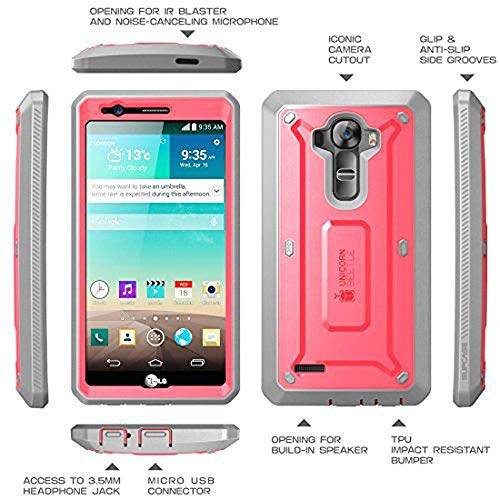 LG G4 Case, SUPCASE Full-Body Rugged Holster Case with Built-in Screen  Protector for LG G4 2015 Release, Unicorn Beetle PRO Series - Retail  Package