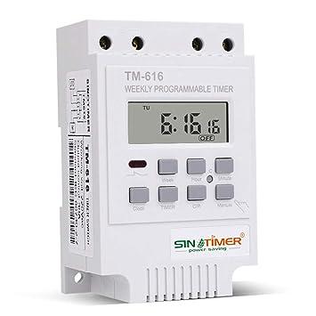 Interruptor de rele 12V DC/AC TM-616 Controlador de relé de Conmutador de Temporizador Digital Semanal Electrónico - Matefield (220v): Amazon.es: Bricolaje ...