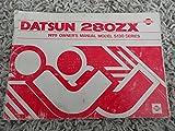 1979 Datsun 280ZX Owners Manual 280 ZX