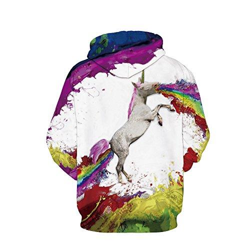 Marca Unicornio Estampado Con La De Jysport Sudadera Rosa Capucha wqTFxXfWt