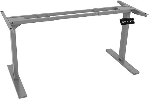 Ergo Elements 2 Motor Electric Standing Desk Workstation 4 Memory Buttons LED Display