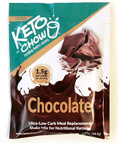 Keto Chow Keto Meal Replacement Shake: delicious, easy meals for keto diet, complete keto meal, on the run keto meal (Chocolate, Single Meal Sample)