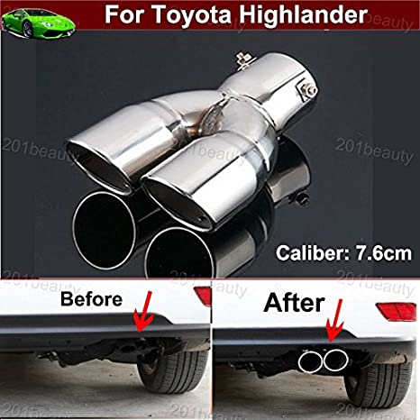 Motors Car Stainless Steel Exhaust Rear Tail Pipe Tip Tailpipe Muffler Pretector Cover