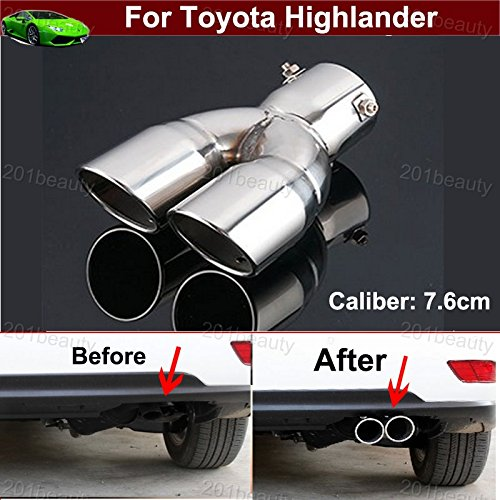 Toyota Highlander 2011 For Sale: New Design 1pcs Stainless Steel Exhaust Muffler Rear Tail