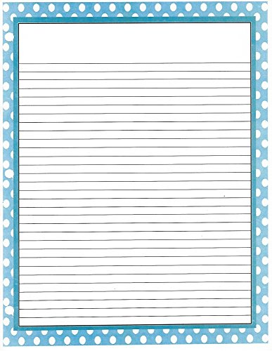 Blue Polka Dot 3 Hole Loose Leaf Paper 50 Sheets by Blue Polka Dot Loose Leaf Paper
