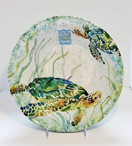 Sigrid Olsen Sea Turtles Serving Salad/Pasta Bowl 100% Melamine Indoor Outdoor Kitchen Dishwasher Safe Shatterproof 11.5W x 4H Brand New