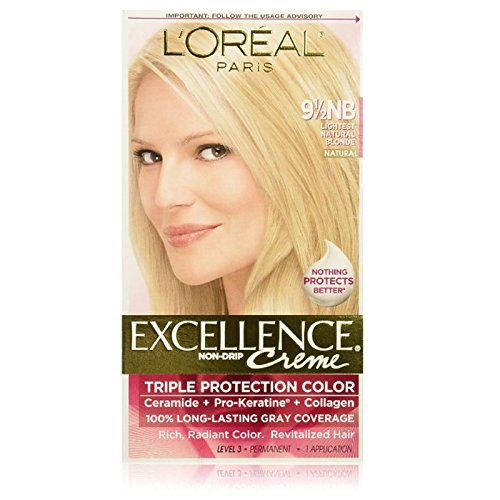 L'oreal Paris Excellence Creme Triple Protection Color, Natural Lightest Blonde 9 1/2 Nb -  U-HC-3516