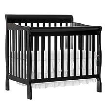 Dream On Me Aden 4-in-1 Mini Convertible Crib (Black)