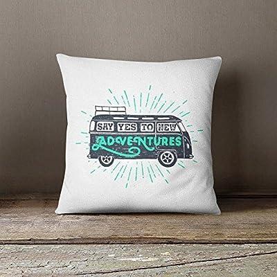 Road trip pillowcase adventure lover pillowcase glider cushion outdoor decorative pillow cover modern throw pillow cover patio throw pillowcase funny pillowcase adventure lovers gift, Friends Gift