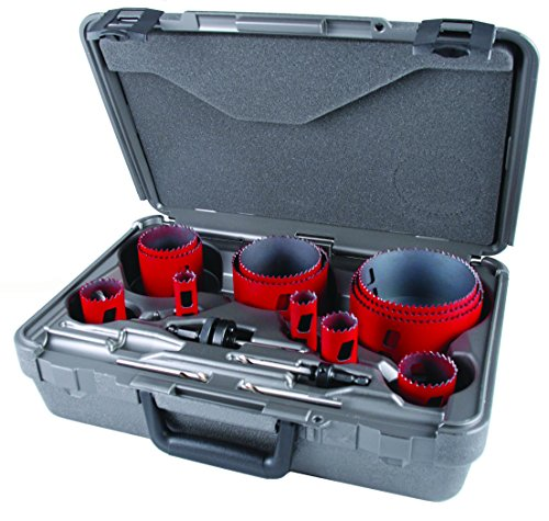 MK Morse MHS16P Bi-Metal Hole Saw Plumber Kit, -