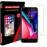 [Armor Crunch] 2-Pack Advanced iPhone 8 Plus 7 Plus Tempered Glass Screen Protector (9H Hardness) - Ultra-Thin, Anti-Glare Smartphone Protection with Oleophobic Coating - Scratch & Shatter Resistance