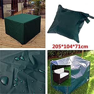Madon dongd Gardern funda impermeable para muebles al aire libre Patio comedor mesa silla refugio resistente transpirable cuadrada cubierta
