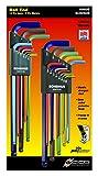 Bondhus 69600 Ball End Double Pack L-Wrench Set with ColorGuard, 13 Piece