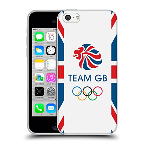 Official Team GB British Olympic Association Flag Logo Soft Gel Case for Apple iPhone 5c