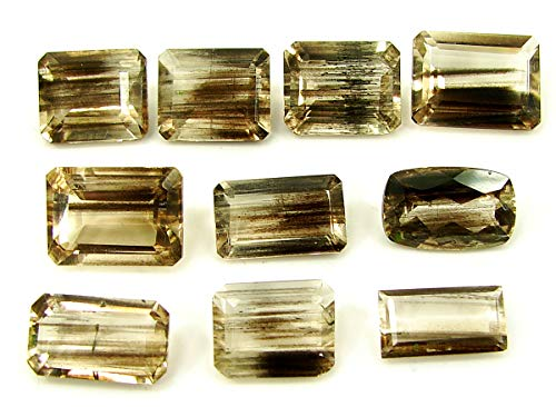 46.50 Ct Natural Scapolite Loose Gemstone Faceted Cut Lot of 10 Pcs Stone- 28076