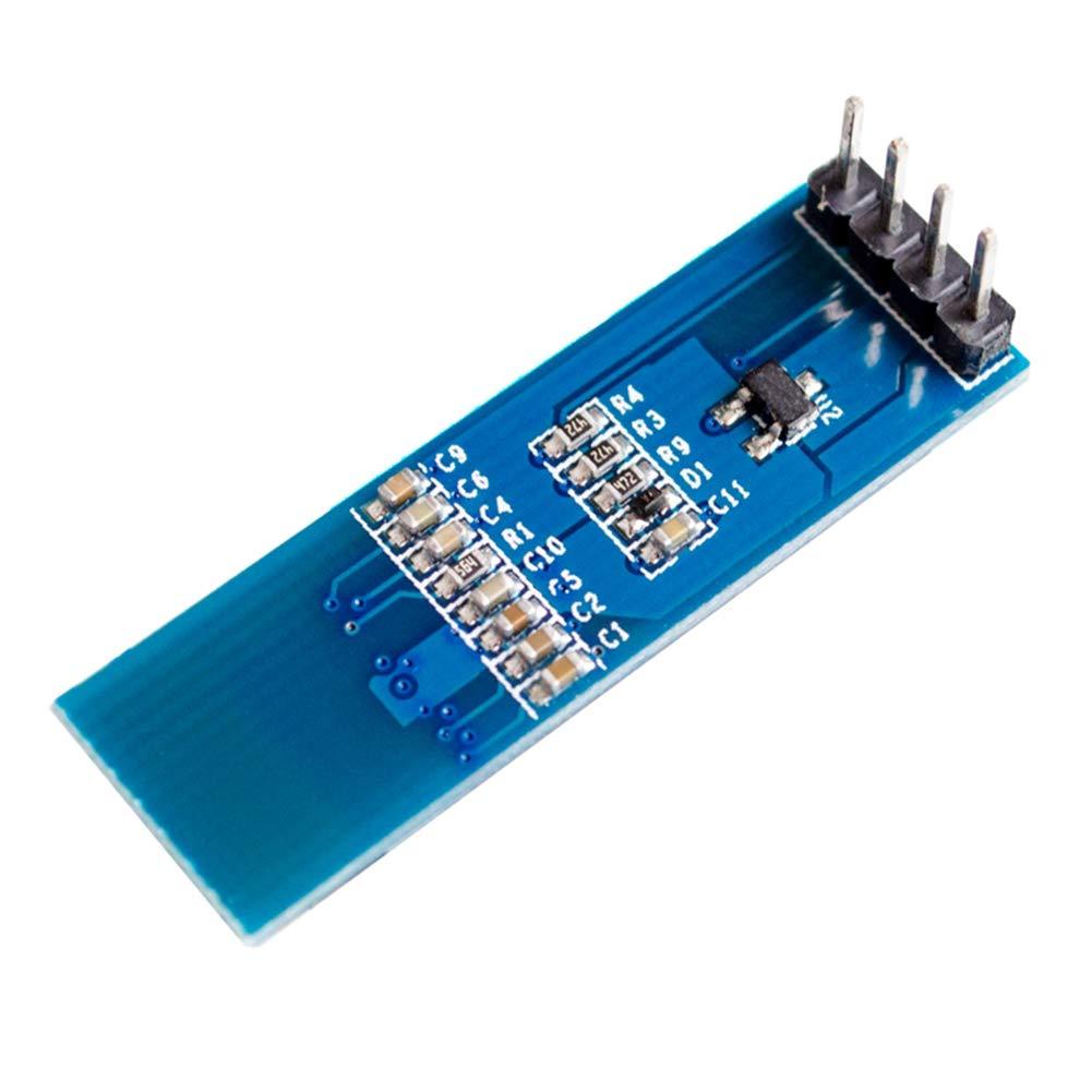 Wangdd22 2pcs 0 91 Inch 128x32 IIC I2C White OLED LCD Display DIY