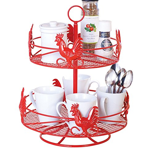 two-tier-red-country-rooster-lazy-susan
