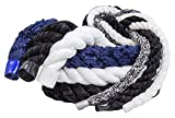 FMS Ultra Soft Triple-Strand 1/4 Inch & 1/2 Inch Twisted Chenille Rope by the Foot, 10 Feet, 25 Feet, 50 Feet, 100 Feet and Full Spools (Navy Blue)(1/2 Inch x 10 Feet)
