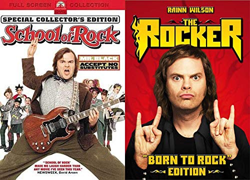 Two Goofballs Ready To ROCK!: School Of Rock (Special Collector's Edition) & The Rocker (Born To Rock Edition) (DVD Bundle/ 2 Feature Films)
