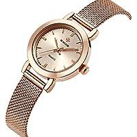 Wwoor Brand Fashion Women's Stainless Steel Quartz Watches Ladies Mesh Band Wrist Watch WR-8823 (rose gold)