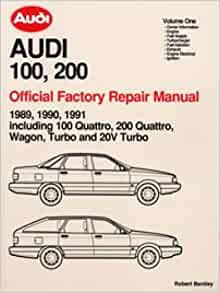 A191 1989 1990 1991 Audi 100 200 Repair Manual: Manufacturer: Amazon.com: Books