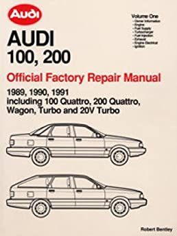 a191 1989 1990 1991 audi 100 200 repair manual manufacturer amazon rh amazon com Audi A4 Manual Interior Audi Owner's Manual Online