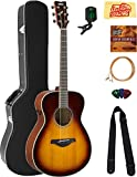 #10: Yamaha FS-TA Concert Transacoustic Guitar - Brown Sunburst Bundle with Hard Case, Tuner, Strings, Strap, Picks, Austin Bazaar Instructional DVD, and Polishing Cloth