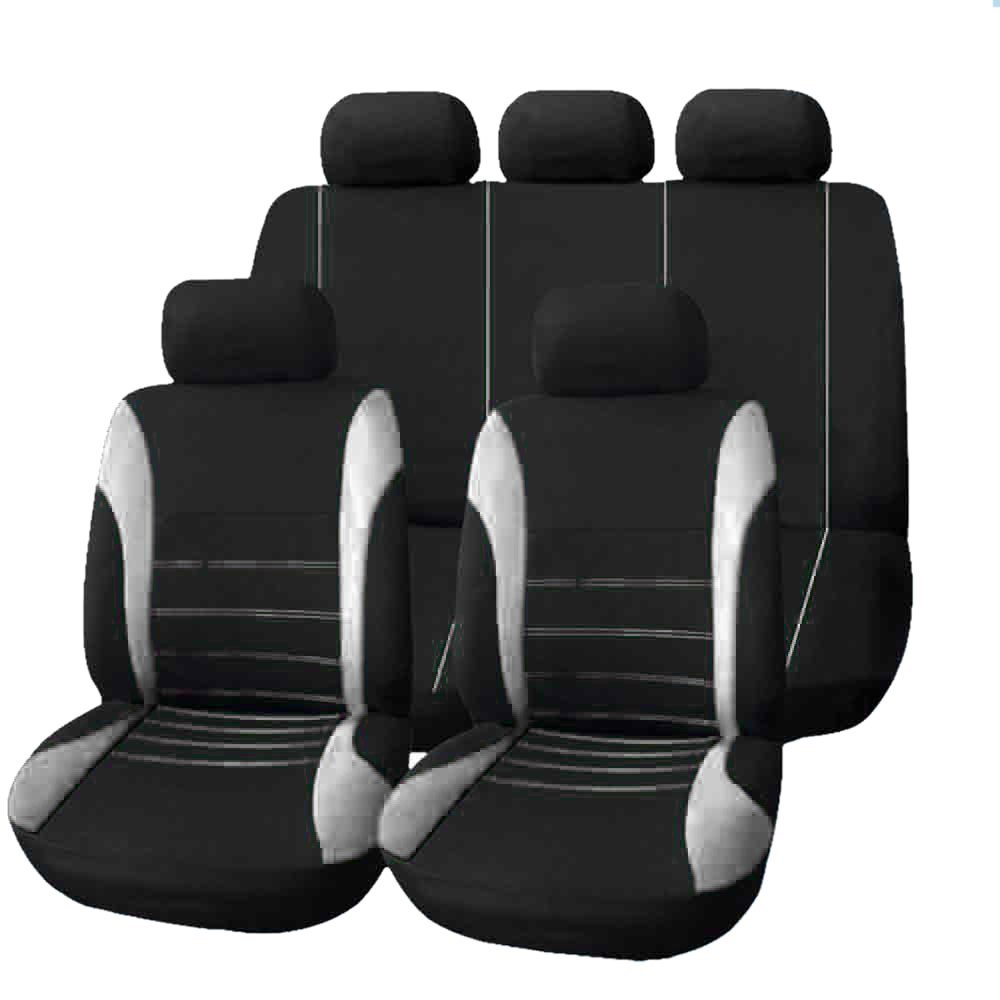 Set Completo di Coprisedili per Auto Macchina Seat Cover Universali Protezione per Sedile di Poliestere - Set Completo di 9 XY COOL