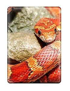 NicholasAMiller Scratch-free Phone Case For Ipad Air- Retail Packaging - Red Orange Snake