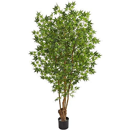 Nearly Natural 9174 6' Maple Artificial Silk Trees Green ()