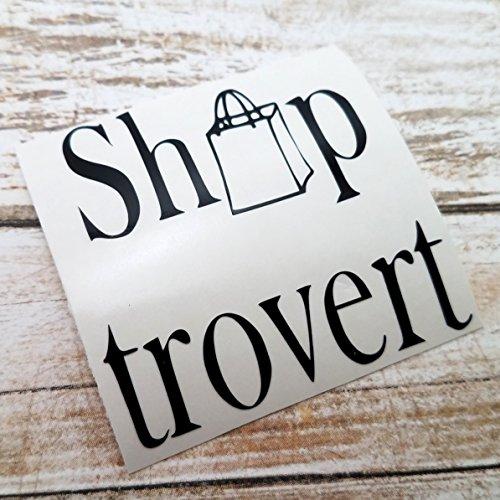 [Shoptrovert Vinyl Decal Sticker for Shoppers Shopping for use on YETI RTIC Tumbler Mug Laptop] (Nerd Costume Ideas Pinterest)