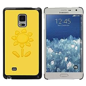iKiki Tech / Estuche rígido - Sun Yellow Petal Drawing - Samsung Galaxy Mega 5.8 9150 9152