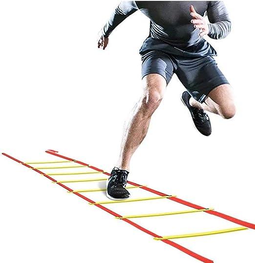 Kofferraum Fútbol Ritmo de Entrenamiento de la Agilidad Escalera, Home Fitness Running Escala de Cuerda Suave, Escalera, Equipo de Entrenamiento de la Aptitud, 8 Metros 16 Secciones: Amazon.es: Hogar