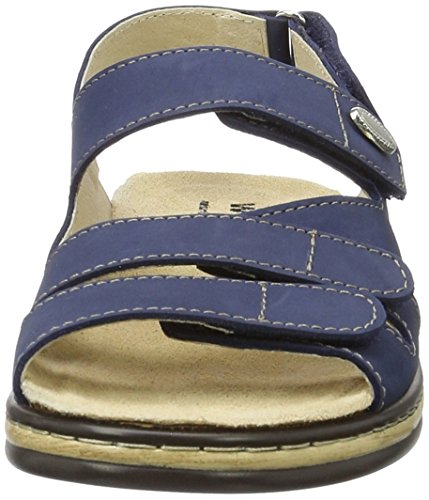 Weeger 15640, Sandalias de Punta Descubierta Para Mujer Blau (Blau)