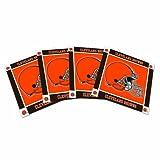 NFL Cleveland Browns Ceramic Coasters-Pack of 4, Orange