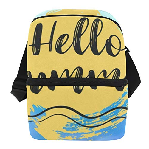 Lunch Bag Hello Summer Sea Reusable Cooler Bag Adult Leakproof Food Storage Zipper Tote Bags for Work