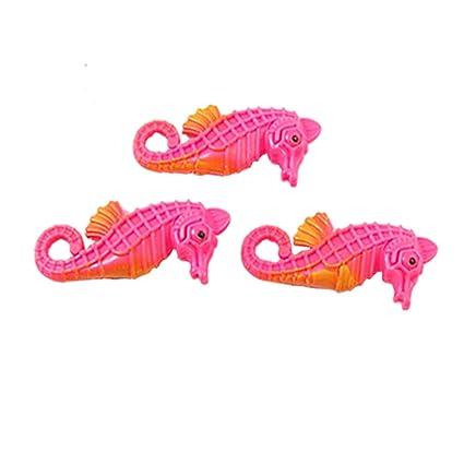 uxcell flotador de plástico móviles cola pez artificial, naranja, 2 piezas