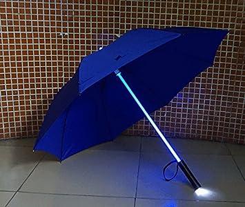 Hapahabie - Paraguas LED con Linterna para Manualidades, protección Nocturna, Transparente, 1 Unidad
