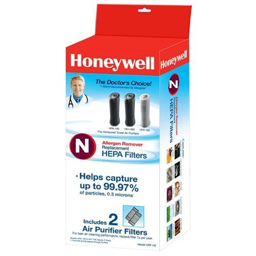 Honeywell - True HEPA Replacement Filters for Select Honeywell Air Purifiers (2-Pack) - White HRF-N2