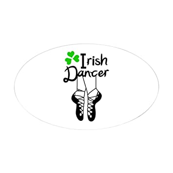 Amazon.com: CafePress – irlandés Dancer Pegatina – Oval ...
