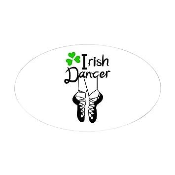 Amazon.com: CafePress – irlandés Dancer Pegatina – Oval ...