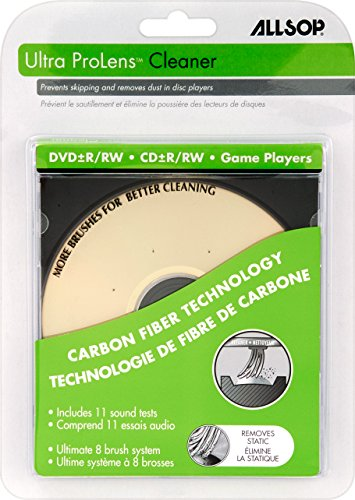 Player Cleaning Disc Cd (Allsop Ultra ProLens Cleaner for DVD, CD Drives, and Game Players (23321))