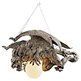 Design Toscano Nightfall Sculptural Gargoyle Chandelier For Sale