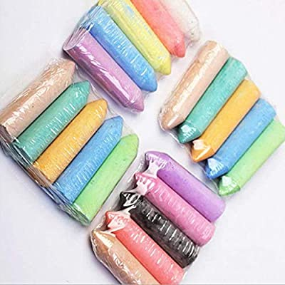 20 PCS Colorful Sidewalk Chalk for Children Outdoor Side Walk Outside Driveway, Colored Dustless Chalk Bundle for Kids Painting Art Crafts (A): Arts, Crafts & Sewing
