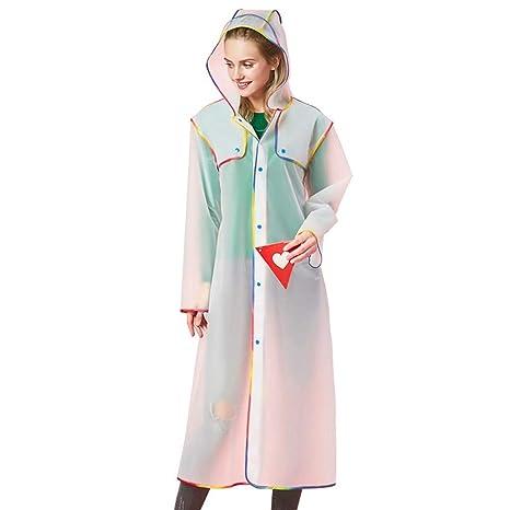HMJNHDXW Moda Adulto Impermeabile di plastica Spessa Donne Lungo Impermeabile  Impermeabile Giacca Uomini all aperto 4862e2ead648